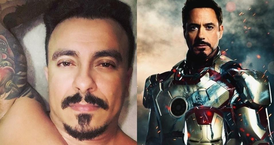 23. Homem de Ferro (Tony Stark) - Jefferson Pereira, de São Paulo, é muito parecido com o personagem Homem de Ferro, mas trabalha com o mundo fitness