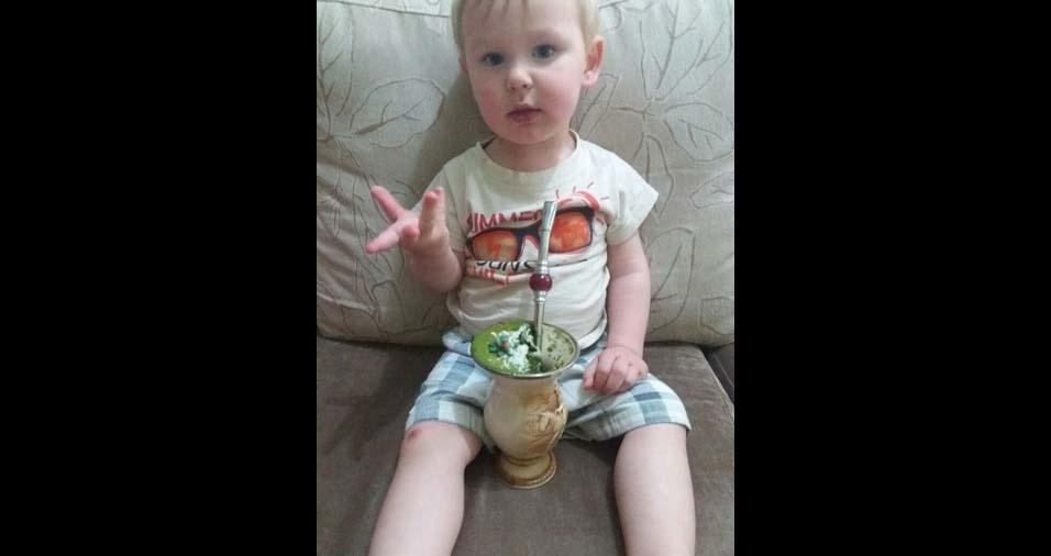 Dirceu e Samara enviaram a foto do filho Joaquim, de um ano e seis meses, de Rio das Antas (SC)
