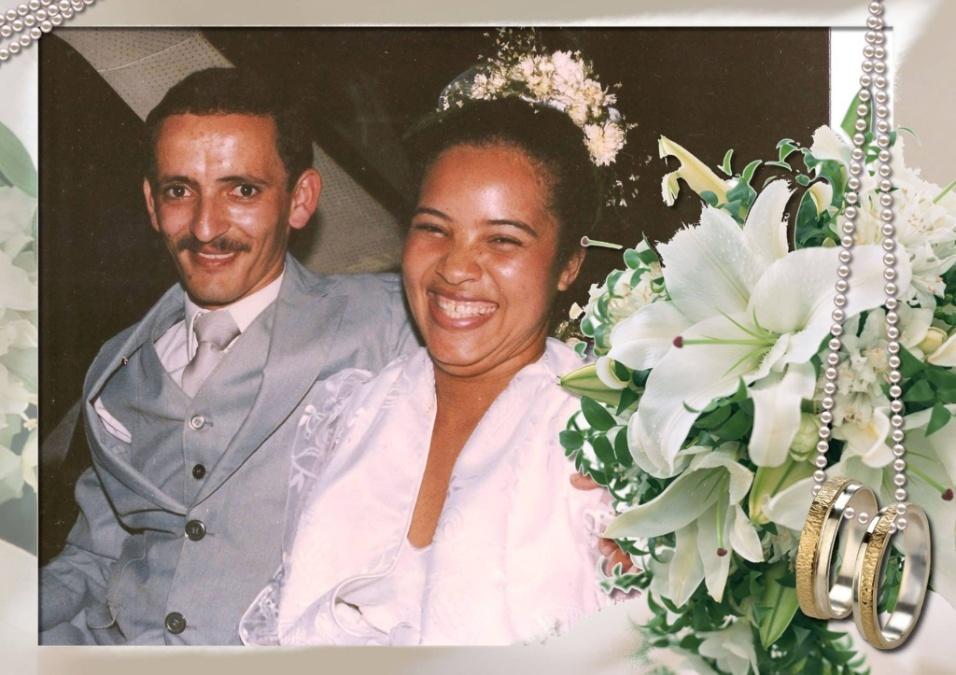 Cicero Aparecido de Menezes e Noêmia Coutinho de Menezes se casaram no dia 9 de julho de 1988, em Salvador (BA)
