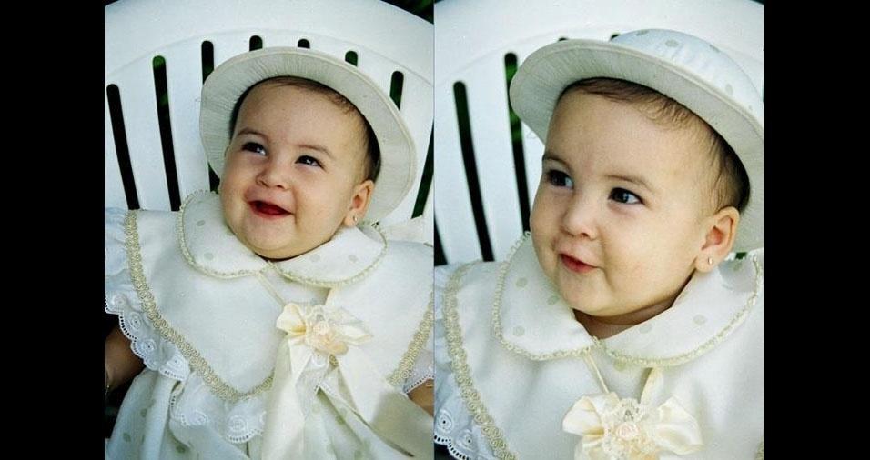 Papai Aluysio enviou foto da filha Maria Lissana, de de Jucati (PE)