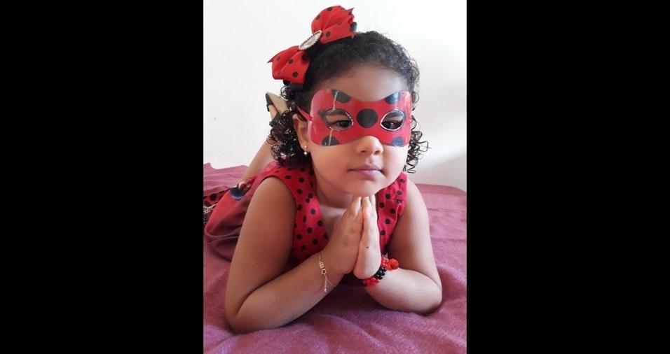 """""""Minha Ladybug, Beatriz"""", conta a mamãe Renê Aparecida de Freitas Roanes, de Aracaju (SE)"""