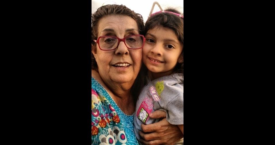 Vovó Luzia com a netinha Sofia
