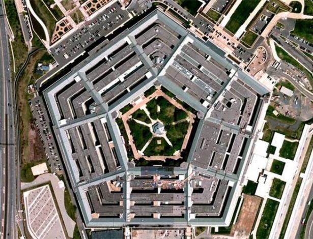 Vista aérea do complexo militar Pentágono, na Virgínia, Estados Unidos