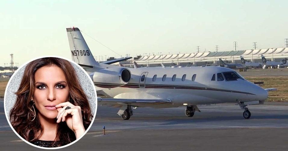 9. Ivete Sangalo usa um Cessna Citation Excel, avião executivo bimotor com capacidade para até oito passageiros e autonomia de 3,2 mil quilômetros. Avaliado em US$ 10 milhões