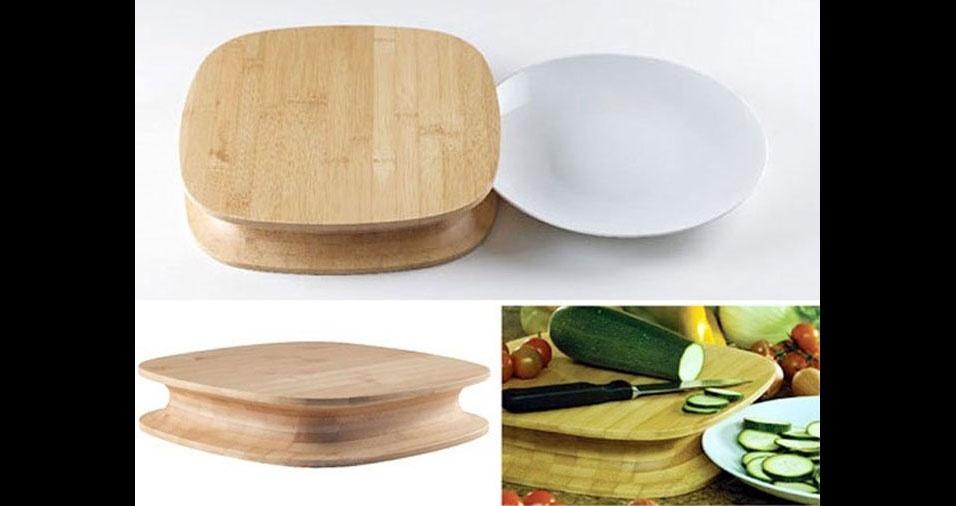 11. Outra tábua com encaixe para prato