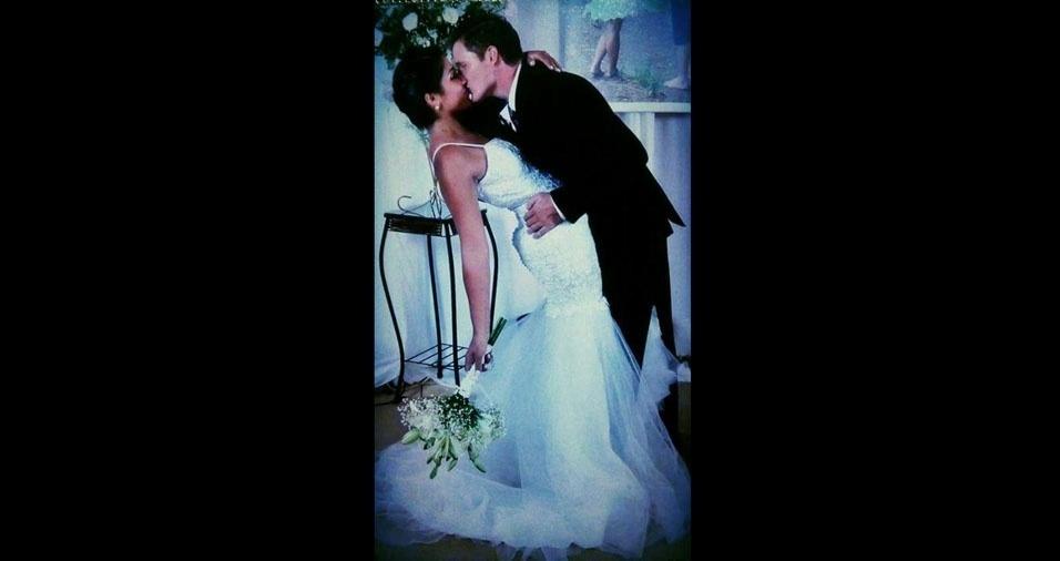 Simone e Marlo, de Roque Gonzales (RS), se casaram em 1 de junho de 2016