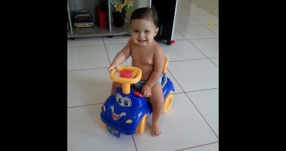Ronaldo, de Barreiras (MG), enviou foto do filho Elias Gabriel