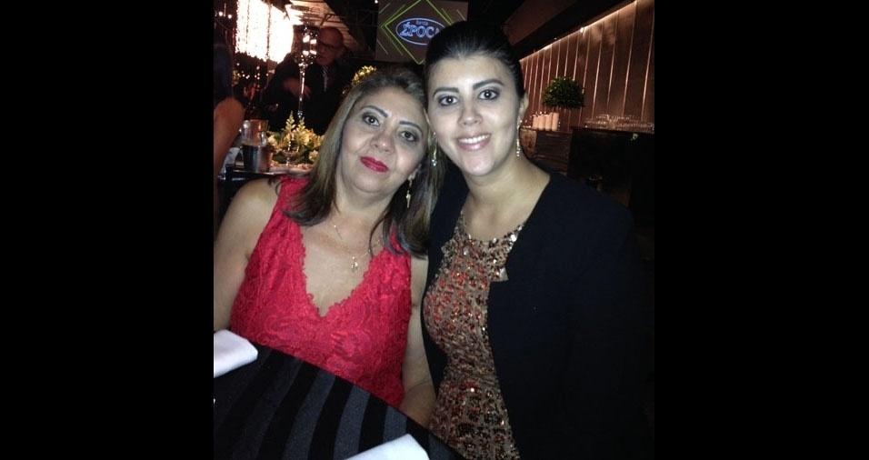 Ivanete Vera enviou foto com a mamãe Maria das Merces Vera, de Santo André (SP)