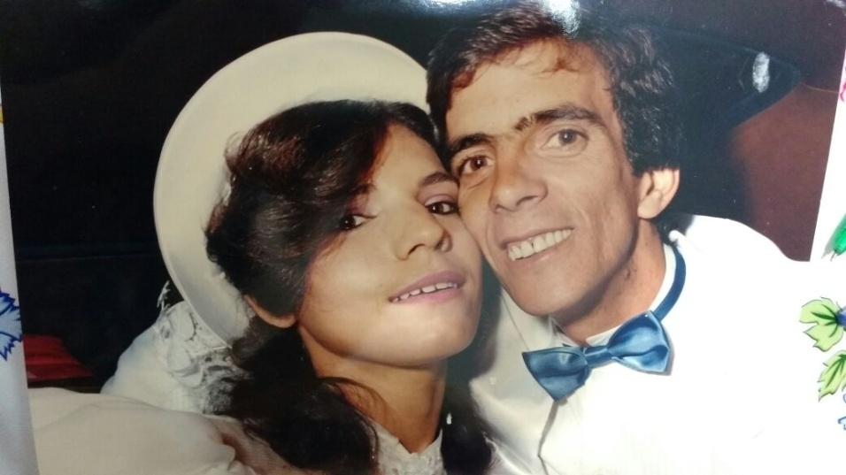 Durvalina Maria Marques de Andrade e Edson Marinho de Andrade, de São Paulo, em 28 de maio de 1988