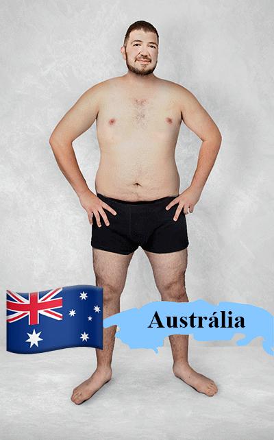 18.fev.2016 - Imagem editada mostra como seria o padrão de beleza na Austrália para os designers gráficos locais