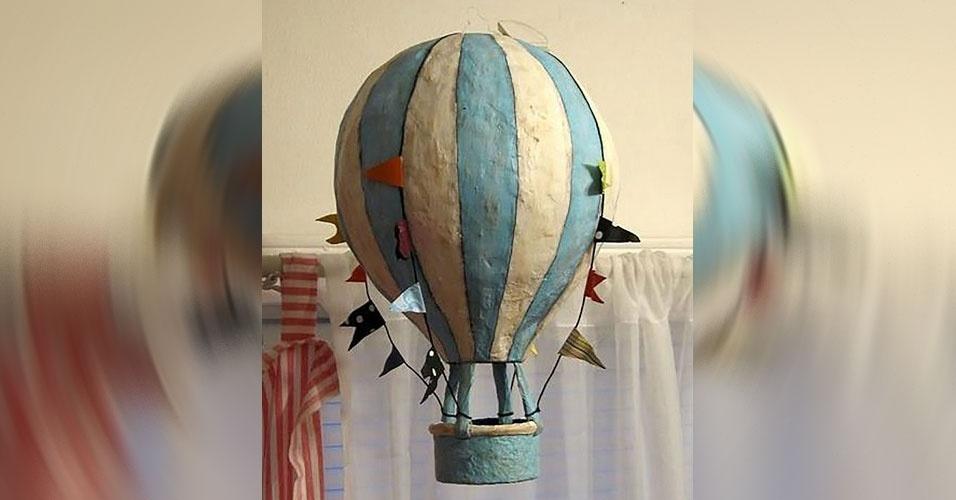 5. Balão de ar feito em papel machê