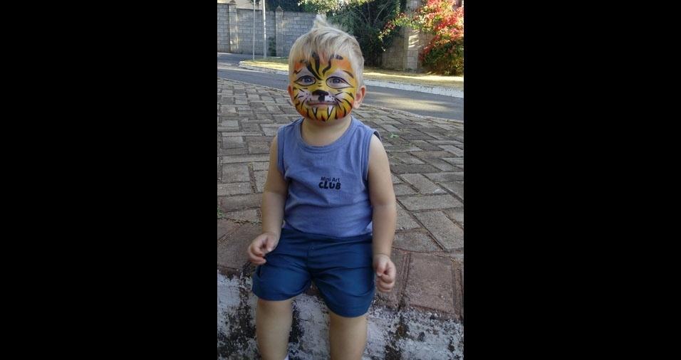 A mamãe Renata enviou foto do filho Nicolas, de Araguari (MG)