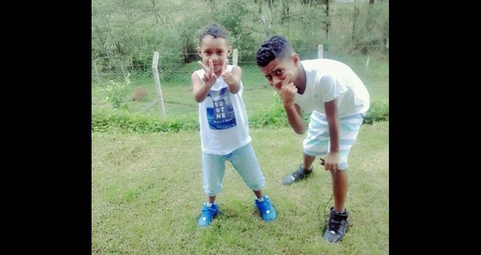 Luiz Gabriel e Luiz Felipe são os filhos do Lucas Rodrigues da Costa, de Machado (MG)