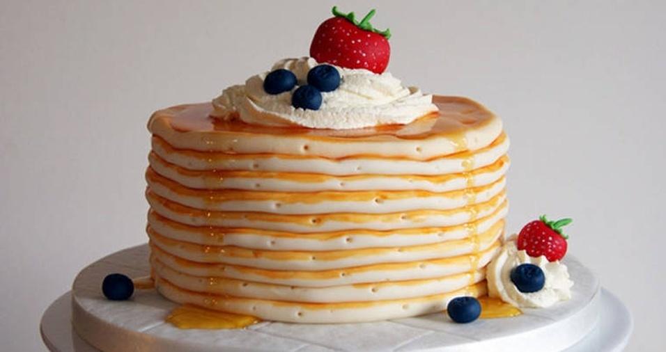 6. Na dúvida entre bolo e panqueca, escolha um bolo com cara de panqueca!