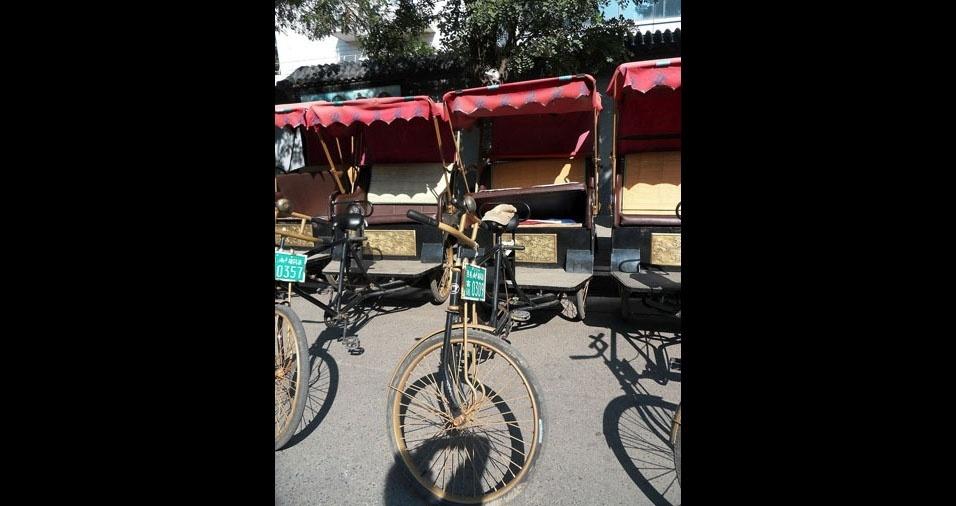 22. Na China, eles são movidos à pedaladas