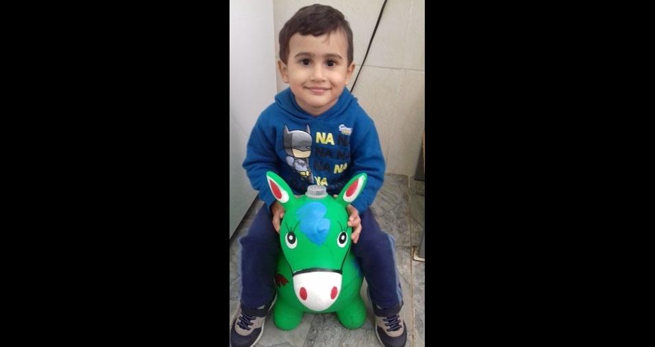 Claudia Cristina enviou foto do filho Davi, de Francisco Morato (SP)