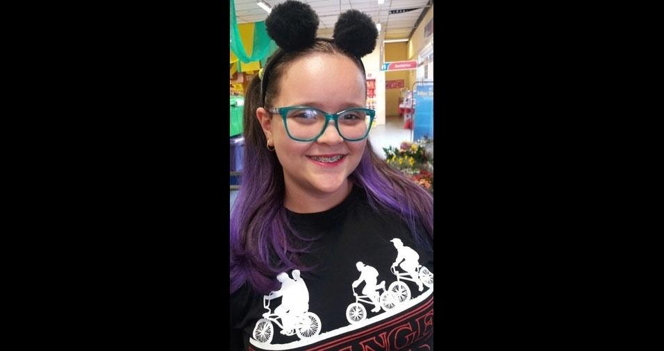 O papai Alexandre enviou foto da filha Amanda, de Poá (SP)