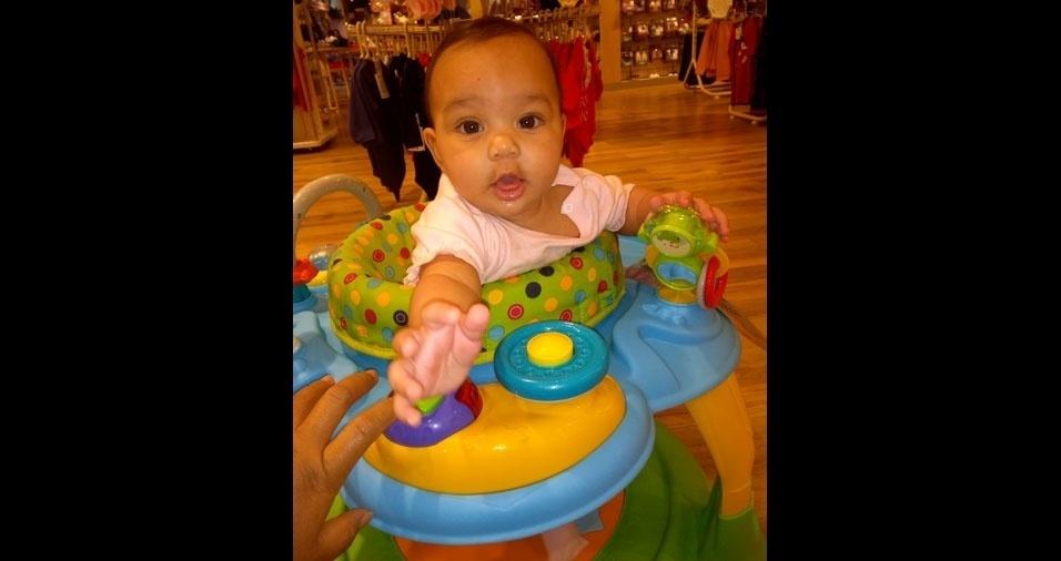 Alexandre enviou foto da filha Tharssylla