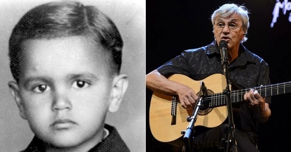 27.jul.2015 - Antes e depois de Caetano Veloso, hoje com 72 anos