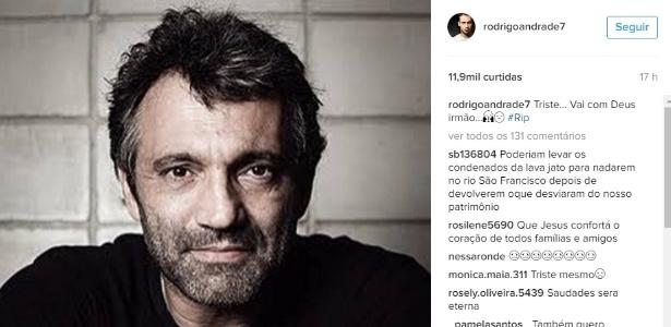Domingos Montagner morreu afogado no Velho Chico e será enterrado neste sábado - Reprodução/Instagram