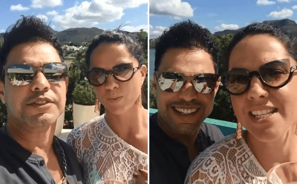 19.abr.2017 - Zezé di Camargo e Graciele Lacerda publicaram um vídeo apresentando o resort onde passaram o feriado de Páscoa