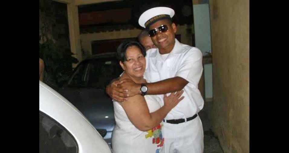 Eder da Rocha com a avó Marina, de Rio de Janeiro (RJ)