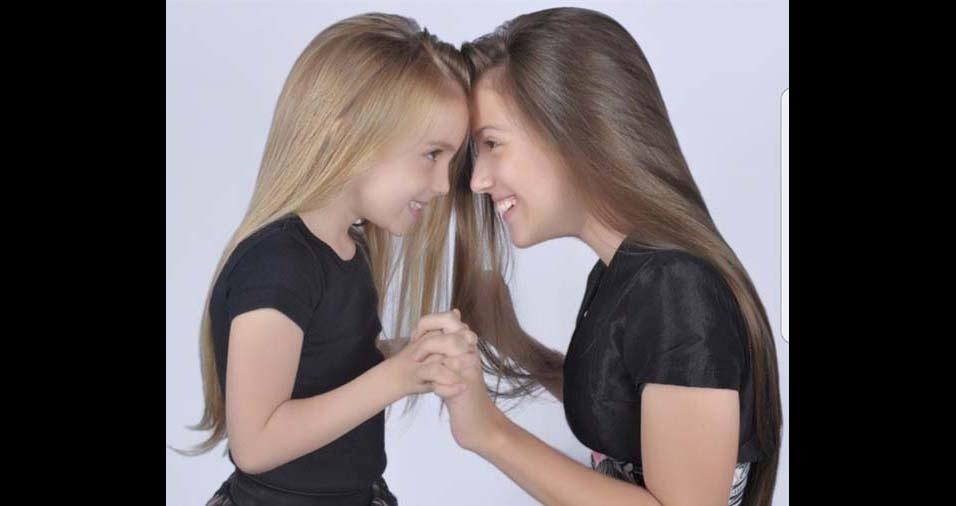 Itamar, de São Simão (GO), enviou foto das filhas Ana Laura e Maria Luiza