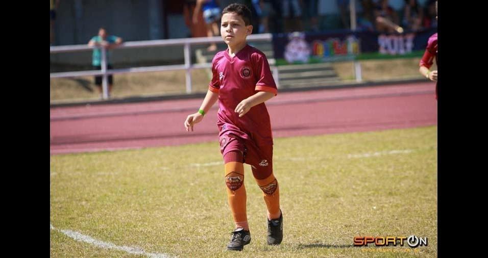 Renato, de Volta Redonda (RJ), enviou foto do filho Davi, de nove anos