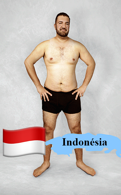 18.fev.2016 - Imagem editada mostra como seria o padrão de beleza na Indonésia para os designers gráficos locais