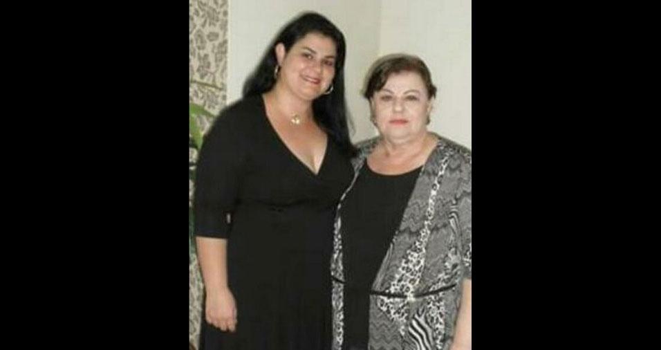 """Eva com a filha Prisciane, de Araraquara (SP), que conta: """"Hoje a minha mãe mora no céu. Para sempre te amarei"""""""