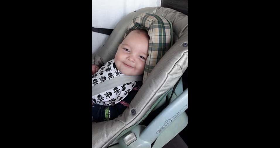 Vivian e Rodrigo enviaram a foto do filho Bernardo, de Mogi Guaçu (SP)
