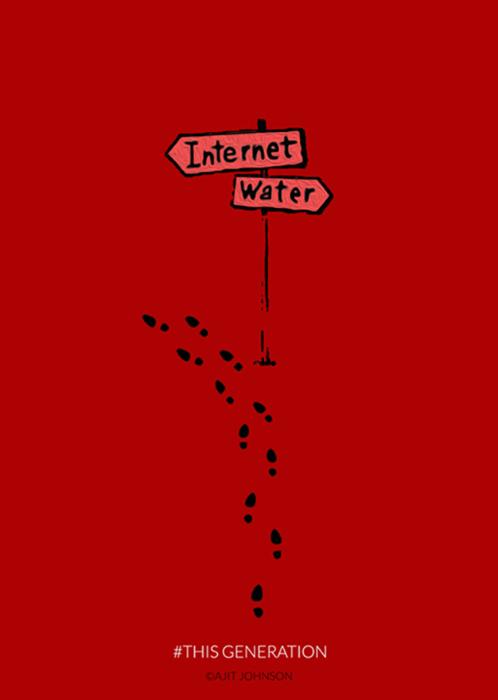 24.set.2015 - Você está no deserto e encontra essa placa: para onde ir? O inglês Ajit Johnson deu a resposta