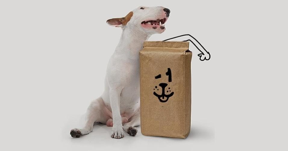 9.dez.2015 - Campanha de ilustrador visa reduzir embalagens de rações para doar a quantidade retirada para cães necessitados