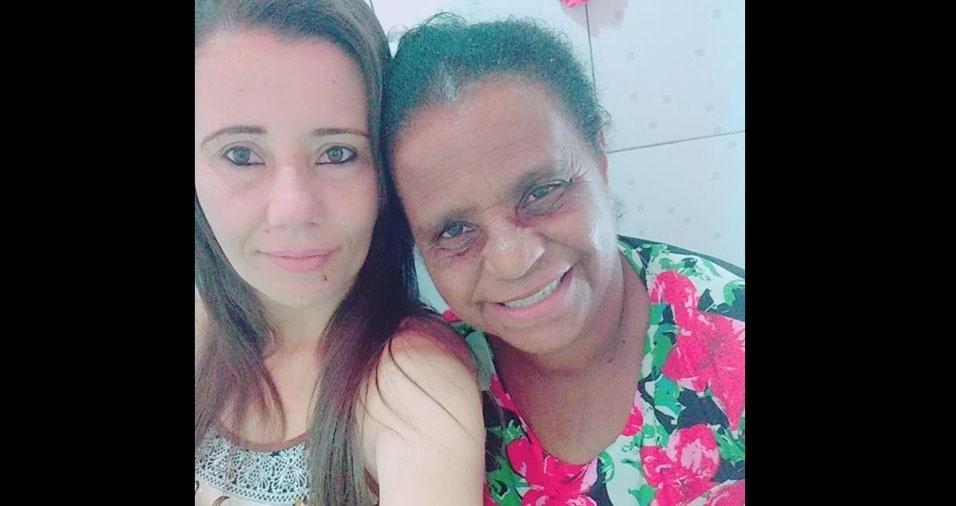 Neide com a mamãe Zilda, de Brasília (DF)