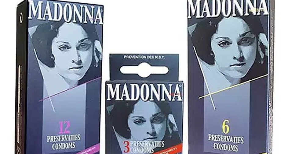 """13. """"Like a Virgin"""" até Madonna ganhou uma camisinha francesa inspirada nela nos anos 1980"""