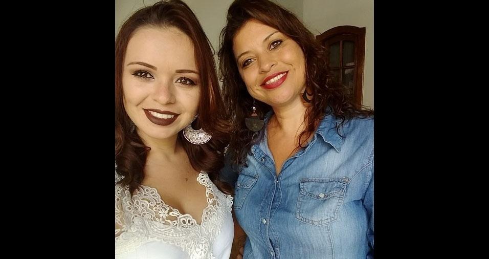 Susany Vaneri com a mãe Silmara, de Ipuiuna (MG)