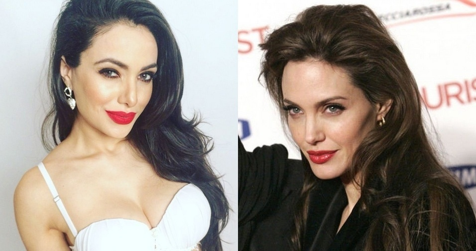 12. Angelina Jolie - Scheila Lima, de São Paulo, trabalha como modelo e atriz e faz diversos trabalhos fotográficos como sósia de Angelina Jolie e sua personagem Malévola. Jolie é famosa por sua atuação no cinema e também pela beleza estonteante. Que sorte, não?