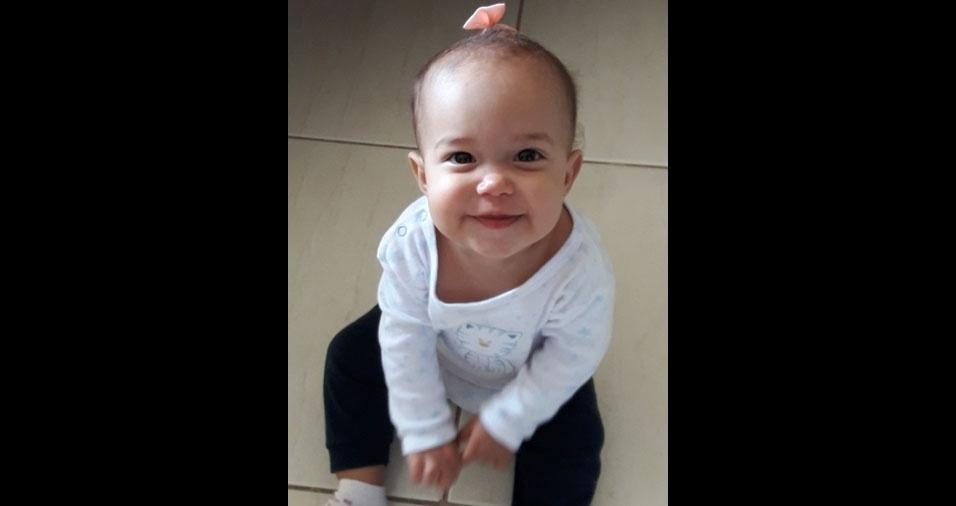 O papai Anisio Silvestre enviou foto da filha Maria Alyce, de 1 ano e dois meses, de Caratinga (MG)