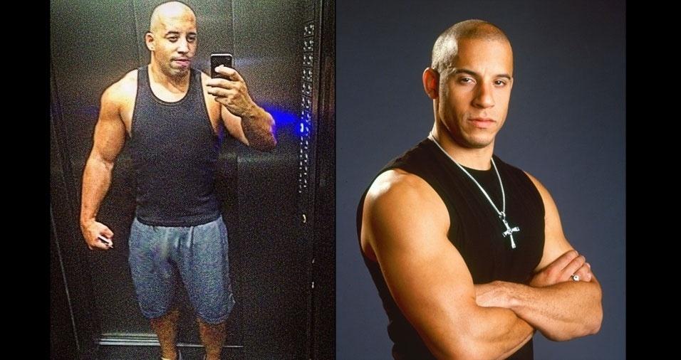 Bruno Rafael Figueiredo, de São Paulo (SP), se acha parecido com o ator Vin Diesel