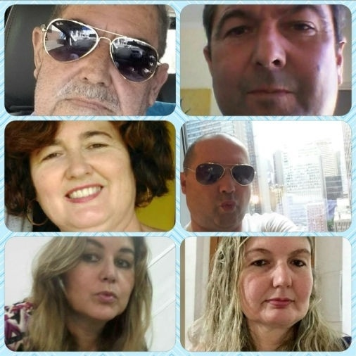 Wallace Souza enviou foto tamanho família: papai Waldir Dias de Souza e os filhos Waldir, Vivian Wallace, Wirvaine e Wigliane, de Osasco (SP)
