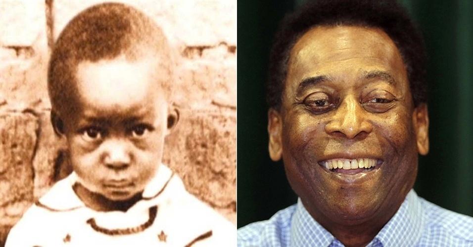 27.jul.2015 - Antes e depois de Pelé, considerado o melhor jogador de futebol de todos os tempos