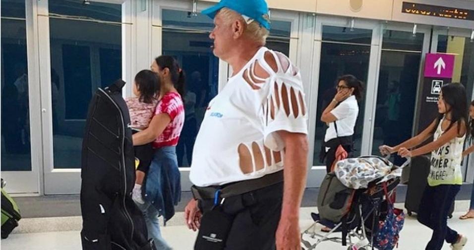 2. Não é todo mundo que consegue manter o estilo em meio a correria de um aeroporto