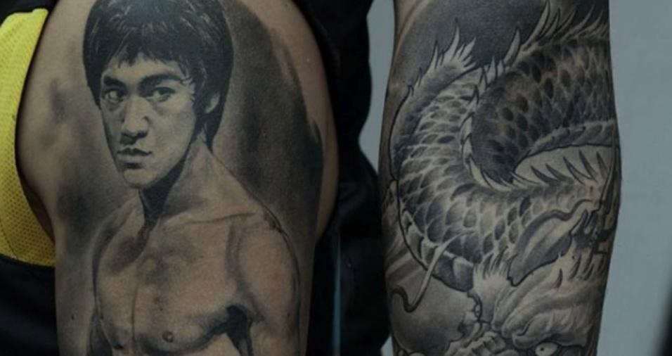 28. Dmitriy ainda mistura aspectos humanos e animais em uma mesma tatuagem, sendo capaz de modificar corpos para agradar o gosto do cliente