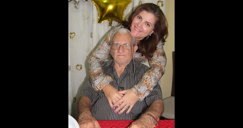 """Jacqueline Maria Coêlho Vaz, de Belo Jardim (PE), escreveu: """"Saudades eternas de você papai, e gratidão eterna a Deus por ter me dado a oportunidade de vivenciar o amor que sempre senti por ti."""""""