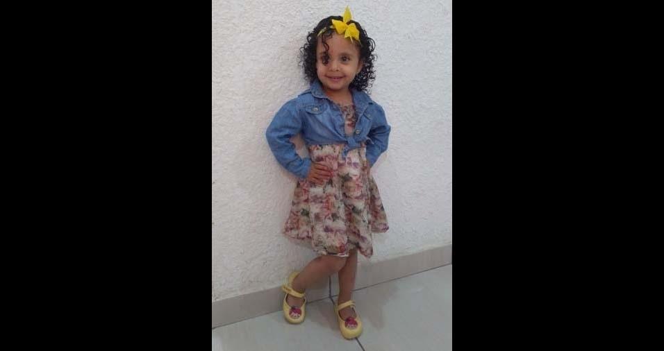 Bruna, de São Paulo (SP), enviou foto da filha Sofia