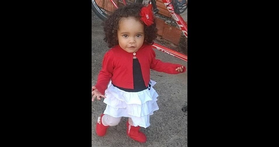 Esta é a Sophia Rocha, de Agudos (SP), em foto enviada pelo papai coruja Márcio Aparecido