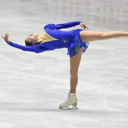 Atleta se apresenta na modalidade de Patinação Artística - Reprodução/UOL Esporte