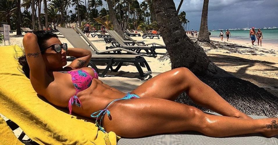 12.mar.2016 - De férias na República Dominicana, a dançarina Scheila Carvalho publicou no Instagram as fotos do paraíso tropical. A eterna