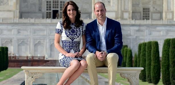 16.abr.2016 - William e Kate sentaram no mesmo banco que a princesa Diana havia sentado 24 anos atrás - Reuters