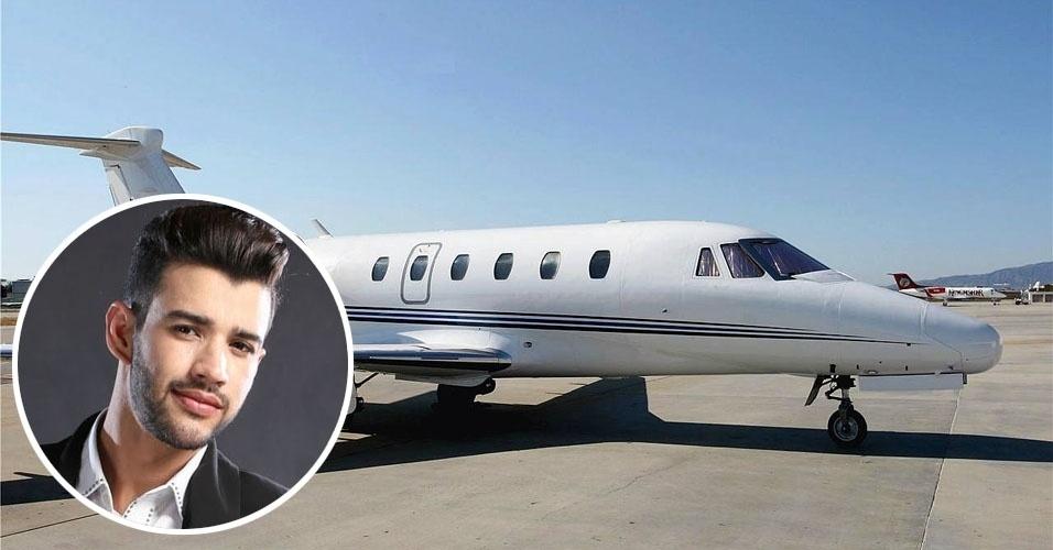 5. O cantor Gusttavo Lima tem um Cessna Citation III, bimotor executivo de médio porte que pode levar até 11 passageiros, com autonomia para 3,5 mil quilômetros. Usado, custa cerca de US$ 2,5 milhões